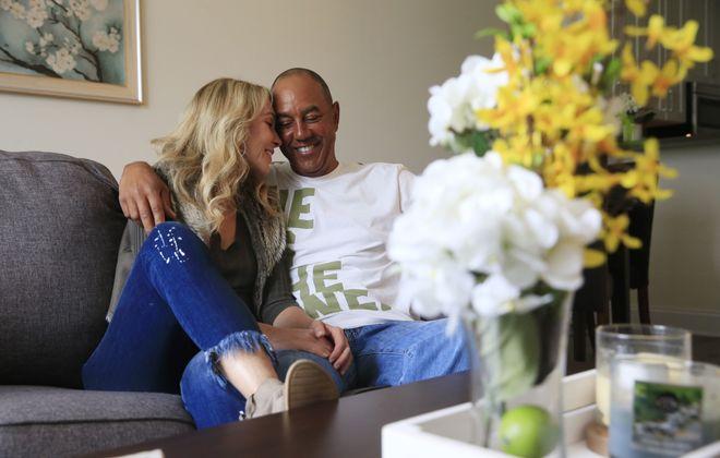 Gari and Bobby Meacham in their Buffalo apartment on Friday, May 5, 2017. (Harry Scull Jr./Buffalo News)