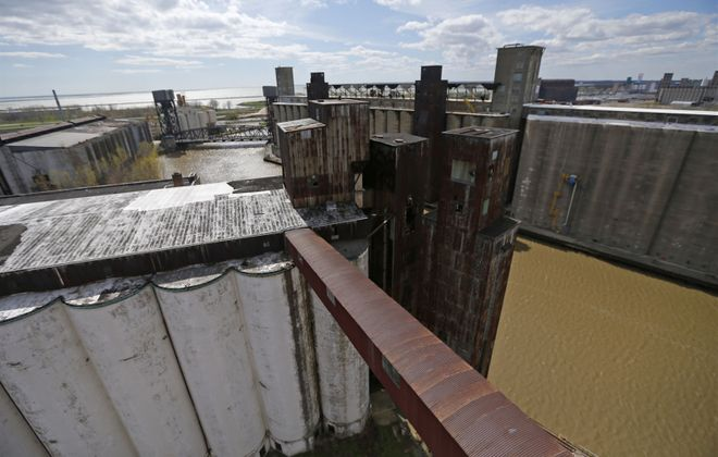 """Silo City is part of Buffalo's """"Elevator Alley,"""" which makes up the densest collection of concrete grain elevators in the world. (Robert Kirkham/Buffalo News)"""