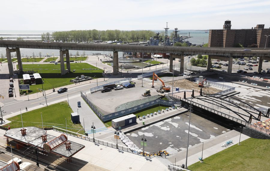 Canalside in Buffalo,  pictured on May 22, 2017.  (Derek Gee/Buffalo News)