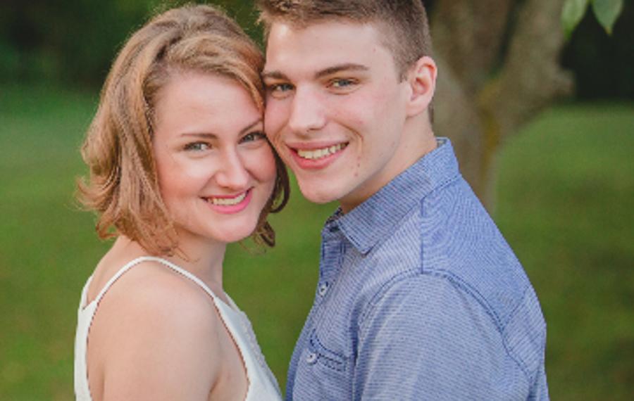 Caroline Czarnecki and Beau Froebel marry in St. Joseph's Cathedral
