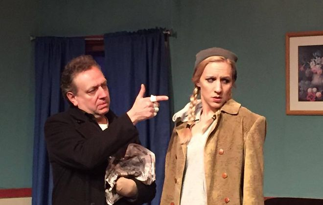 "Thomas LaChiusa, left, and Candice Kogut star in ""A Behanding in Spokane"" at American Repertory Theater of WNY."