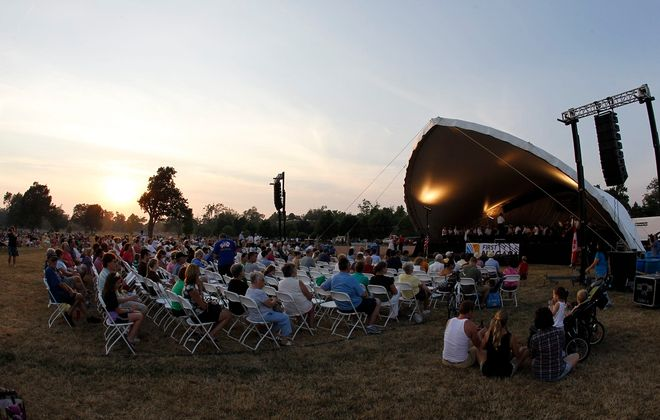 The  Buffalo Philharmonic Orchestra performs at Delaware Park in 2012.   (Harry Scull Jr. / Buffalo News)