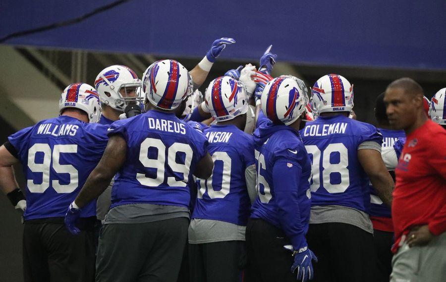 Spring practice had a training camp-like feel to it Thursday for the Buffalo Bills. (James P. McCoy/Buffalo News)