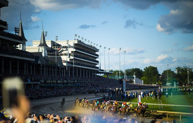 A view of the 143rd running of the Kentucky Derby at Churchill Downs (Michael Noble Jr./Getty Images)