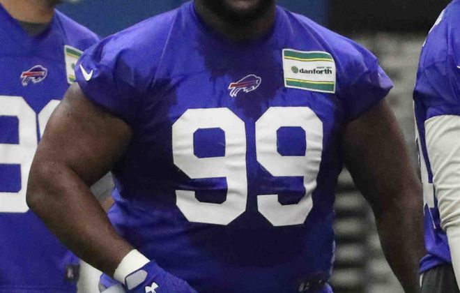 Defensive tackle Marcell Dareus was the third overall pick of the 2011 NFL Draft by the Buffalo Bills. (James P. McCoy/Buffalo News)