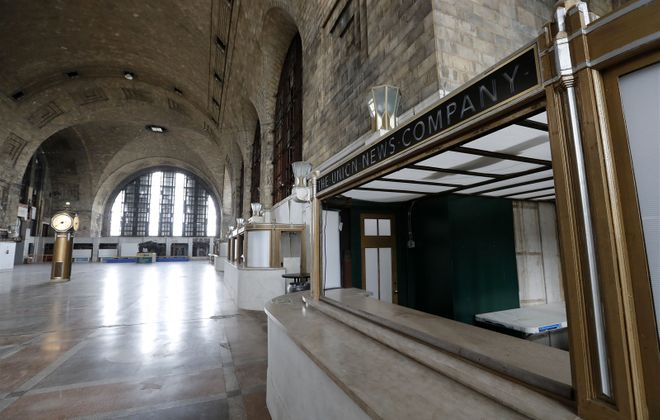 The Central Terminal today; for decades, including the World War II years, it teemed with passengers. (Mark Mulville/The Buffalo News)