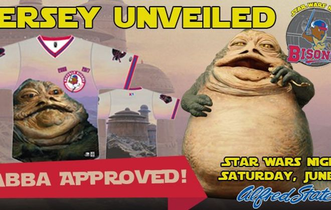 And the Bisons Star Wars-themed jersey is ... Jabba the Hutt