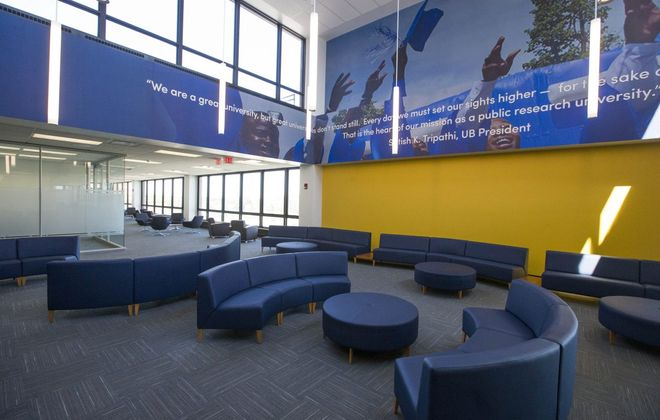 Study space in the Silverman Library on the University at Buffalo North Campus. UB and other SUNY libraries have unified under one software system.  (Derek Gee/Buffalo News file photo)