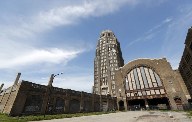 Lighting has been restored to the Central Terminal, the latest step in efforts to reuse the concourse and bring more activity to the historic site. (Mark Mulville/News file photo)