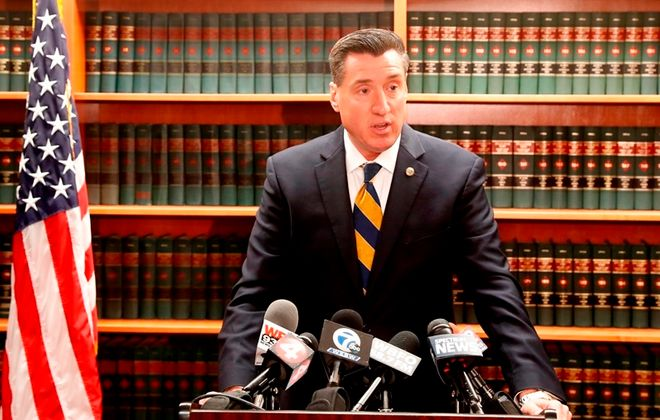 """""""Let this be a message to drug dealers that if you sell drugs and the person dies, I am coming after you,"""" says Erie County District Attorney John Flynn  (News file photo)"""