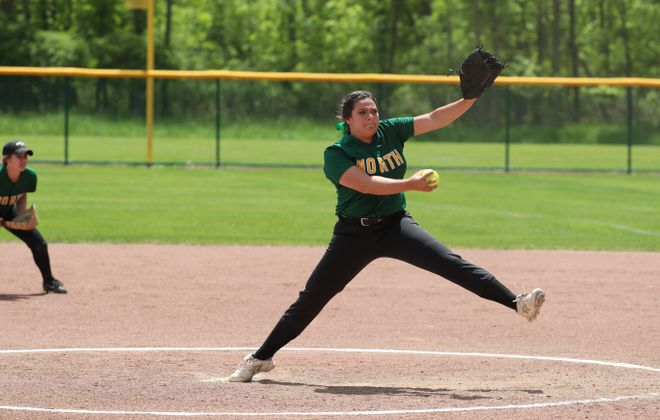 Williamsville North senior Emily Nicosia was named the 2017 ECIC I Pitcher of the Year. (James P. McCoy/Buffalo News)