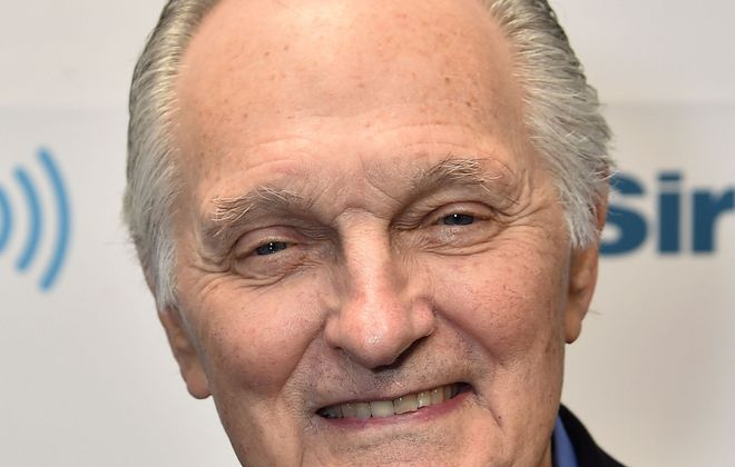Alan Alda visits the SiriusXM Studios in New York City on May 24. (Theo Wargo/Getty Images)