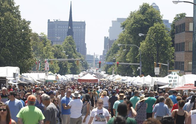 The 60th Allentown Art Festival kicks off with great weather, Saturday, June 10, 2017. (Sharon Cantillon/Buffalo News)