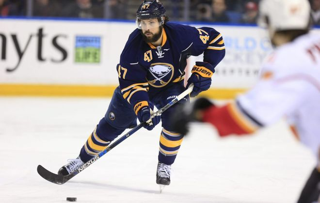 Zach Bogosian's big contract leaves him available for the Golden Knights (Harry Scull/Buffalo News file photo).