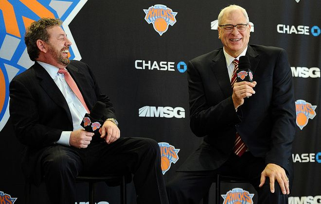 James Dolan's hiring of Phil Jackson fell well short of expectations.  (Getty Images)