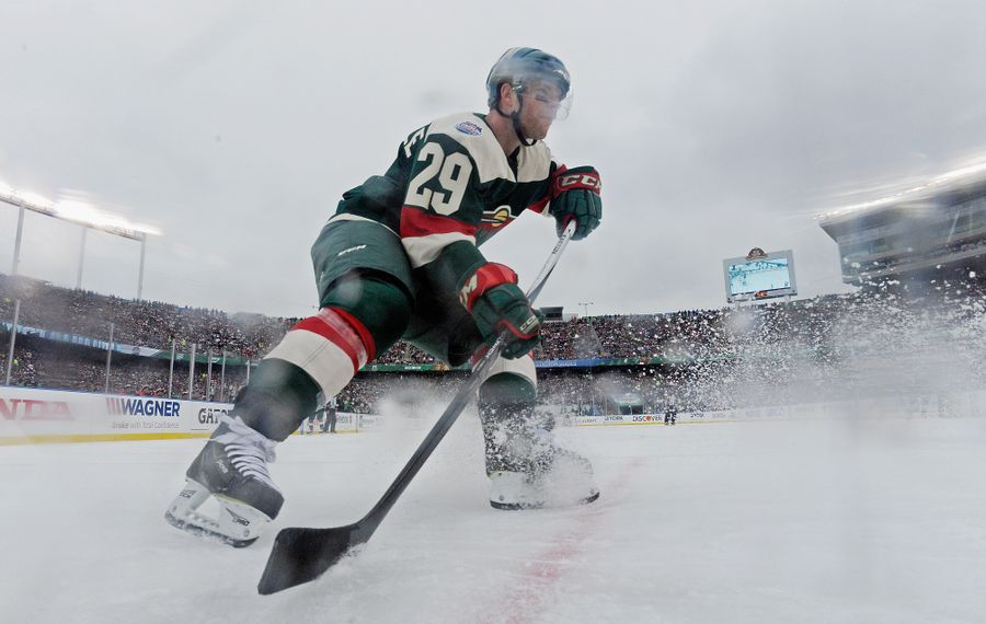 Jason Pominville still has skills while playing five-on-five. (Getty Images)