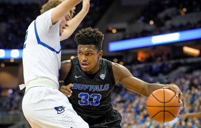UB forward Nick Perkins worked out for at least five NBA teams in the spring. (Getty Images)