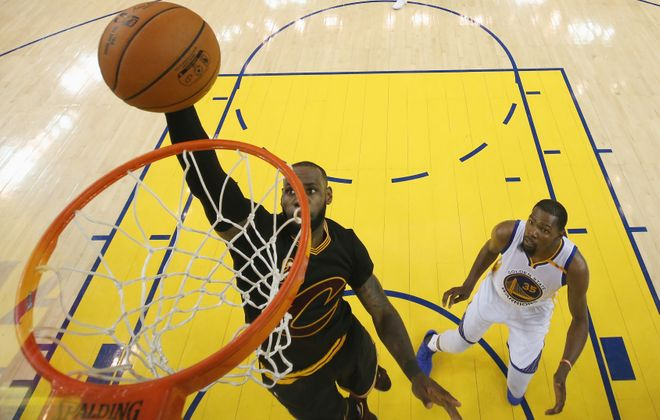 A story about basketball great LeBron James is part of a new book from the Library of America. (Ezra Shaw/Getty Images)