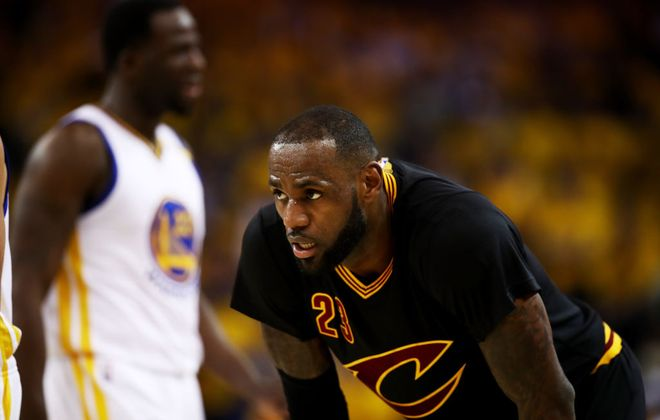 """LeBron James on Game 2: """"We don't play slowdown basketball."""" (Getty Images)"""