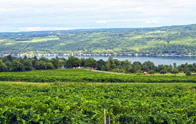Keuka Lake is a little over two hours southeast of Buffalo. Hammondsport sits at its southermost tip.