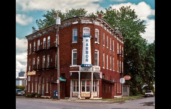 The Harbor Inn, constructed in 1869, served those who worked along the shores of the Buffalo River until the inn closed in 1995. It was demolished in 2003. (Photo courtesy of the Jerry M. Malloy Collection)