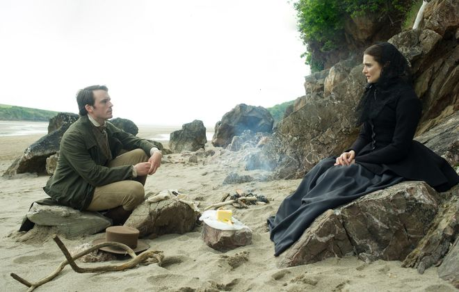 "Sam Claflin and Rachel Weisz in the film ""My Cousin Rachel."" (Nicola Dove/Fox Searchlight)"
