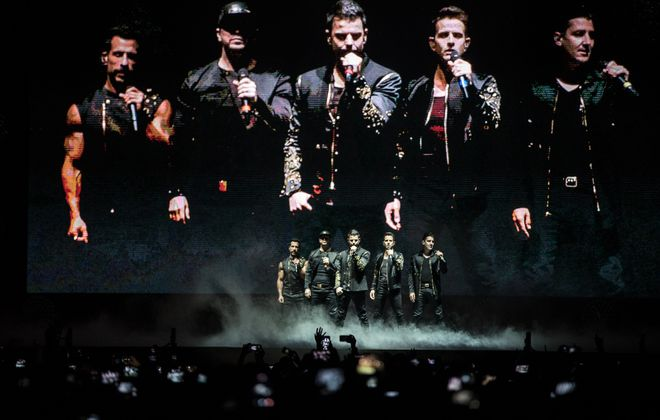 New Kids on the Block perform as part of the Total Package Tour in KeyBank Center on Friday, June 23, 2017. (Chuck Alaimo/Special to the News)