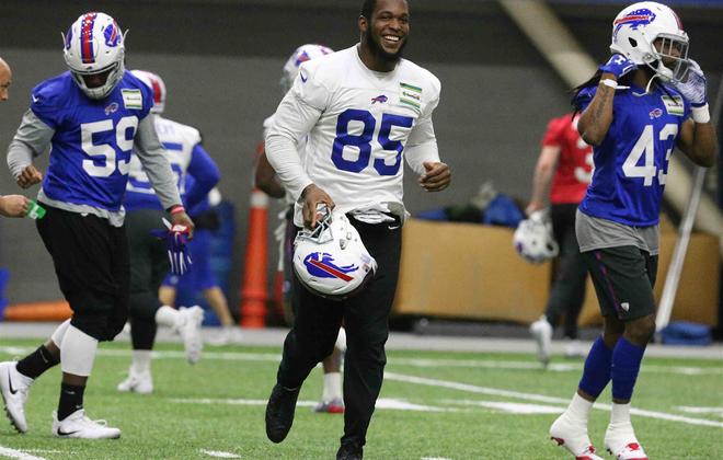 Bills tight end Charles Clay during offseason workouts. (James P. McCoy/Buffalo News)