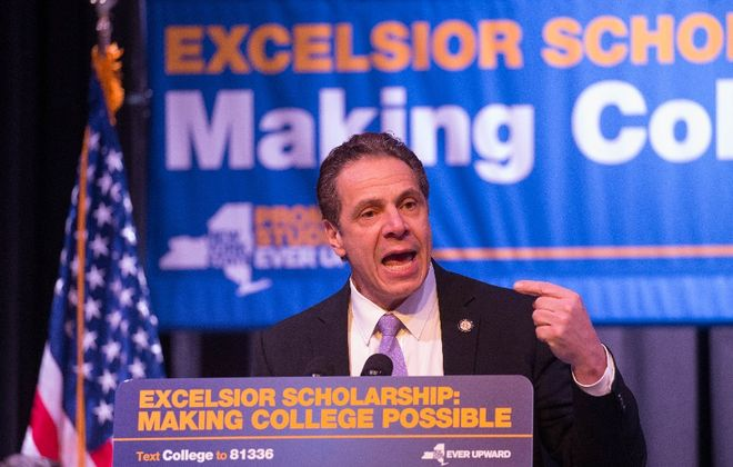 Gov. Andrew M. Cuomo's proposed series of reforms for student college loans builds off his free-tuition plan for SUNY. (Derek Gee/Buffalo News file photo)