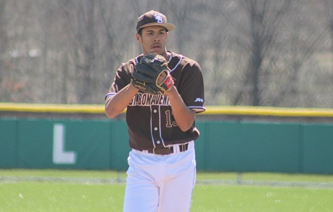 Cleveland Hill graduate and St. Bonaventure player Aaron Phillips was drafted by the San Francisco Giants this week. (St. Bonaventure athletics photo)