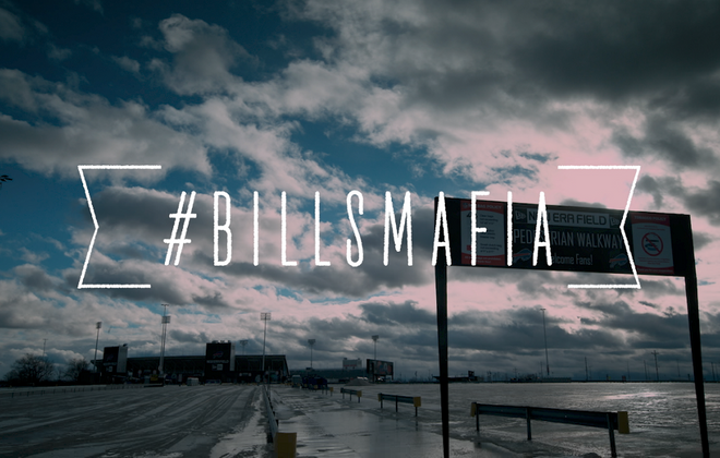 The title slide for Barstool's #BillsMafia documentary (Courtesy Alison Brod Marketing + Communications)