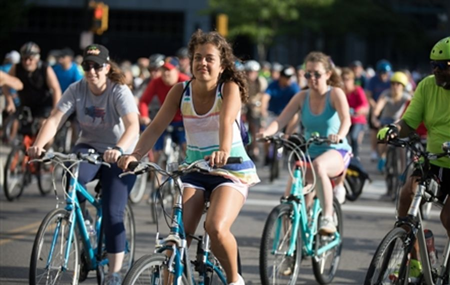 Smiles at The Buffalo News' Slow Roll