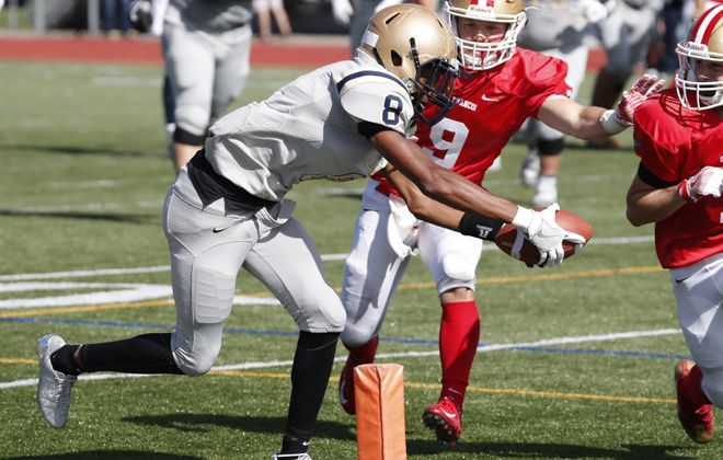 Rutgers-commit Paul Woods of Canisius averaged 19.5 yards per catch and scored eight touchdowns last year.  (Harry Scull Jr./Buffalo News)