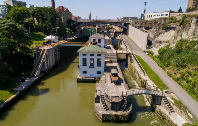 Visit the locks while spending a day in Lockport, one of the towns along the Erie Canal. (Derek Gee/News file photo)