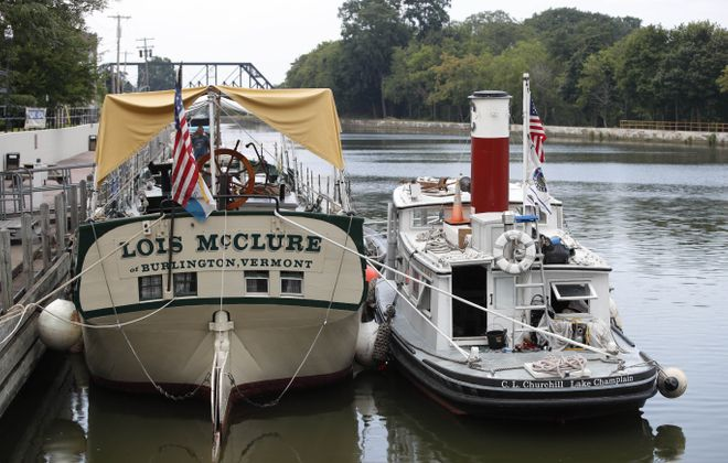 A replica canal boat called the Lois McClure will be traveling through Western New York to celebrate the 200th anniversary of the Erie Canal. (Sharon Cantillon/Buffalo News)