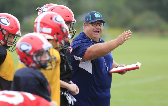 Paul Burgio has been with the Clarence football program for roughly a quarter of a century.  (Harry Scull Jr./Buffalo News)