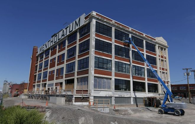An exterior view of the Mentholatum building on Niagara Street.  (Robert Kirkham/Buffalo News file photo)