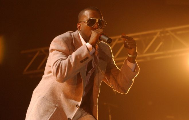 Kanye West, pictured performing at UB in 2005, will have his music played at the All-Night Kanye Party at Studio @ Waiting Room. (Robert Kirkham/Buffalo News file photo)