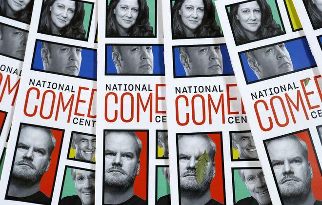 Programs at the National Comedy Center in Jamestown Thursday. (Mark Mulville/Buffalo News)
