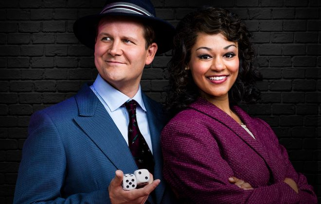 "Evan Buliung and Alexis Gordon star in an excellent production of ""Guys and Dolls"" at the Stratford Festival. (Photography by Lynda Churilla.)"