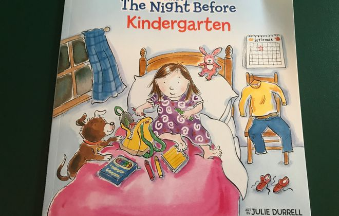 """""""The Night Before Kindergarten"""" is our newest book as we prepare to send our Emma off to kindergarten."""