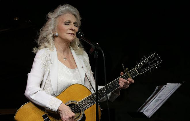 Judy Collins performs at Cafe Carlyle in New York City in 2015.  (Michelle V. Agins/The New York Times)