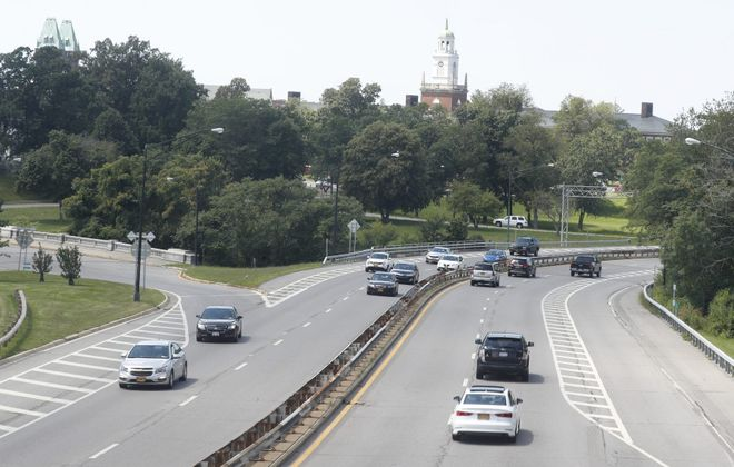 Vehicles travel on the Scajaquada Expressway.    (John Hickey/News file photo)