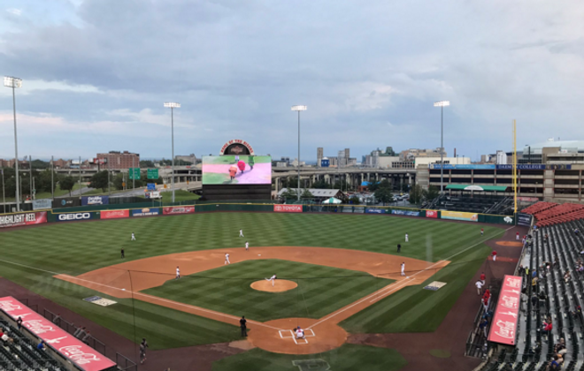 The Bisons won a rain-shortened game over Lehigh Valley Friday night.