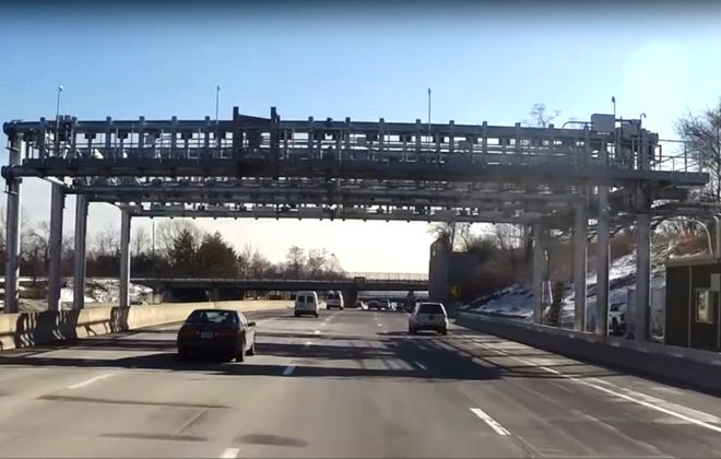 A still image from a New York State Thruway Authority video posted on YouTube.