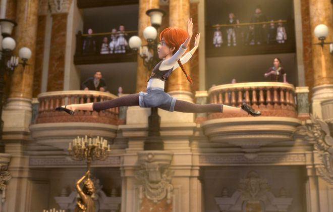 "An 11-year-old orphan named Felicie (voiced by Elle Fanning) pursues ballet in 1870s Paris in ""Leap!"" (The Weinstein Company)"