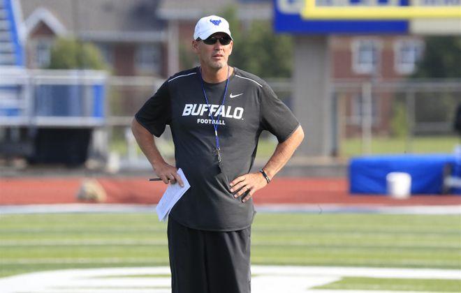 Lance Leipold and UB visit Minnesota on Thursday to kick off the 2017 season. (Harry Scull Jr./The Buffalo News)