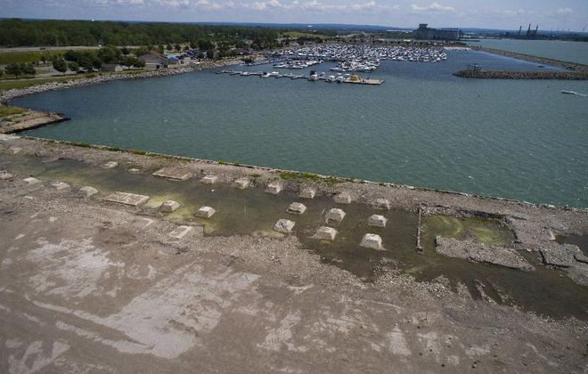 The Queen City Landing site, shown in June. (Derek Gee/Buffalo News)