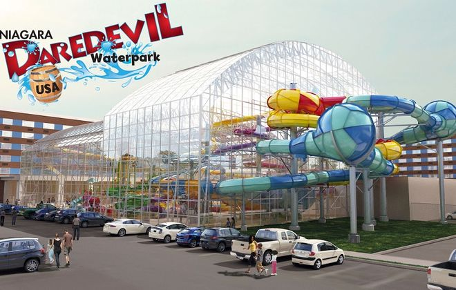 Artist's rendering of the proposed Niagara Daredevil Waterpark. (Courtesy American Niagara Hospitality)