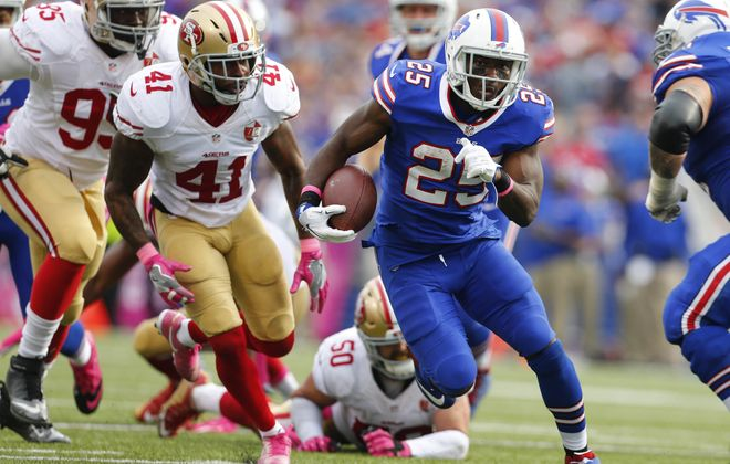 The Bills need LeSean McCoy to stay out of harm's way if they have any chance of ending their playoff drought this season.   (Mark Mulville/Buffalo News)
